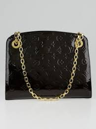 louis vuitton used bags. louis vuitton amarante monogram vernis virginia mm bag used bags