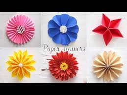 Glace Paper Flower 6 Easy Paper Flowers Flower Making Diy Youtube