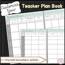 Planbook Editable Planner For Weekly Lesson Plan Templates Plan Book