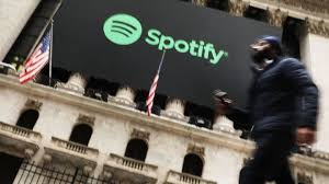 Spotify Shares Dip On First Day Of Trading Bbc News