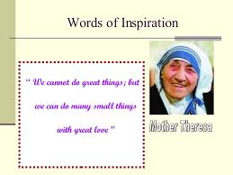 thus spake mother teresa