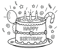 Printable Birthday Coloring Pages Best Happy Birthday Coloring Pages