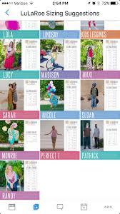 Size Chart Lularoe Sizing Lularoe Size Chart Fashion