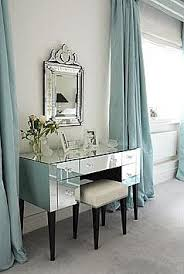 mirrored furniture room ideas. kendall really liked this light blue wall with the long drapesalso she likes mirror and vanity mirrored furniture from house leisure room ideas e