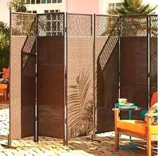 resin privacy screen outdoor brown wicker 3 panel room divider patio furniture screens outdoors white