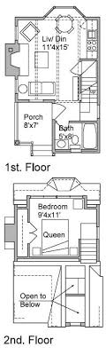 Micro Cottage in the Woods - Floorplans (main floor and second story)  (Photo 2 of