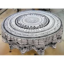 miyanbazaz textiles traditional ethnic 100 cotton contemporary dyeing table cover round tablecloth