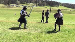 Erik Middleton (Broadsword and Targe) vs David Scott (Longsword/Bastard  Sword) - YouTube