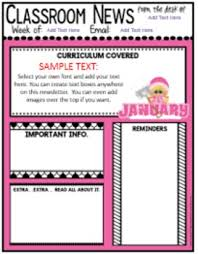 Teachers Newsletter Templates Teacher Newsletter Templates Editable Newsletters