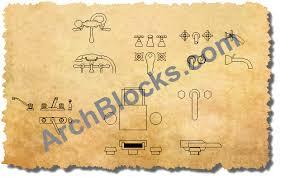 bathtub faucets cad symbols