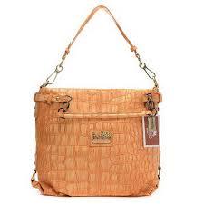 Coach Embossed Logo Medium Orange Shoulder Bags EHW Outlet Clearance