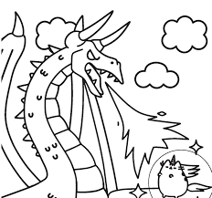 Coloring Pages Pusheen Coloringctures Pages Awesome Of Cat Unicorn