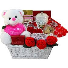 image unavailable image not available for color valentine treres gift basket w teddy bear