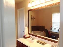 wooden frame bathroom mirror mosaic for ideas large size putting wood around