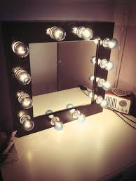How To Make A Vanity Mirror With Lights Inspiration Makeup Stand With Lights And Mirror Makeup Mirror With Lights LED