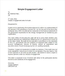 Audit Engagement Letter Sample Template Magnificent Fresh Letter Of Engagement Template Best Sample Excellent