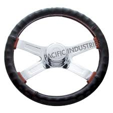 united pacific black engineered leather steering wheel cover