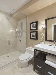 Round Mirror For Asian Style Bathroom Designs. Private Bathroom Design With  Double Shower ...
