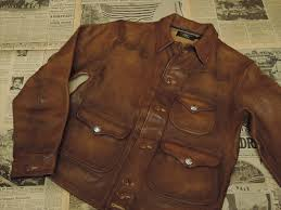 rrl double rl leather griggs jacket