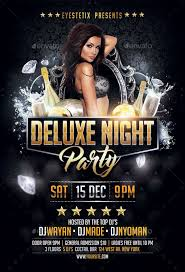 Deluxe Night Party Flyer Party Flyer Event Poster Design