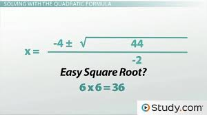 how to use the quadratic formula to solve a quadratic equation lesson transcript study com