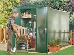 5 x 11 secure metal garden shed asgard