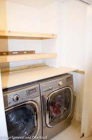 wonderful laundry room shelf over washer dryer diy floating shelves laundry room four generations one roof