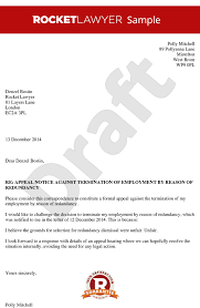 sample letters of termination how to write an appeal letter appeal letter to an employer