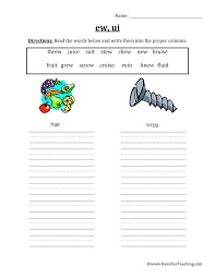Try to remember, you always have to care for your child with amazing care, compassion and affection to be able to help him. Ew Ui Vowel Worksheet Have Fun Teaching
