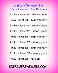 20 minute stationary bike interval workout for beginners