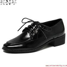 super popular womens shoes xiuningyan womens shoes fashion oxfords shoes uni lace up patent leather women flats casual las shoes plus size 33 43