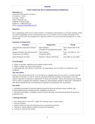 Chemical Operator Resume Remarkable Chemical Plant Operator Sample Resume In Plant Operator