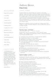 Sample Resume For Encoder Job Best of Data Entry Sample Resume Resume Sample Collection