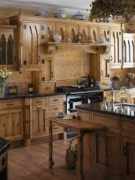 Gothic Kitchen With Wooden Cabinets