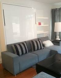 hidden bed furniture. a sectional sofa combined with wall bed combination hidden living room bedroom furniture
