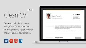 Clean Cv Responsive Resume Template 4 Bonuses Website Templates And Themes
