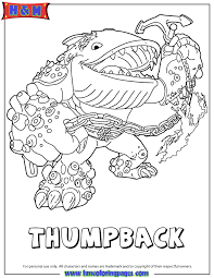 Small Picture Skylanders Giants Water Series2 Thumpback Coloring Page H M