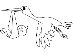 Small Picture flying stork bird with baby coloring pages for kids Coloring