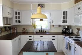 white country kitchen with butcher block. Diy Wide Plank Butcher Block Counter Tops Simplymaggie Com Country Kitchen Remodel White With C