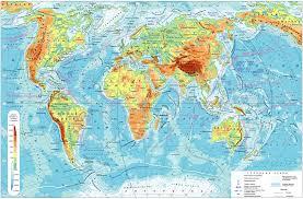 Типы географических карт Физическая карта мира