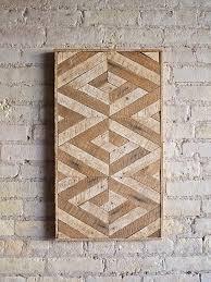 Reclaimed Wood Wall Art Reclaimed Wood Wall Art Lath Decorpattern 3d Geometric