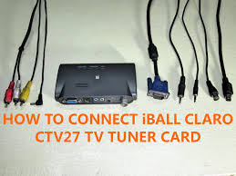 how to connect iball claro ctv27 tv tuner card installation setup you