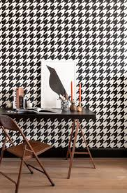 Zwart Wit Behang Pied De Poule Black White Wallpaper Dogtooths