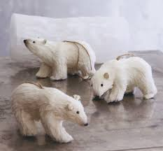 Decorative Polar Ice Bears Christmas Ornaments Set of 3 Click to view  additional images