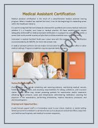 Medical Assistant Certification