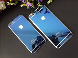 iphone 6 plus 6s plus coloured electroplated mirror screen guard blue screen guards id 113 699 00 inr