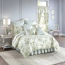 waverly bedding collections green and blue reversible 4 piece cotton comforter set queen