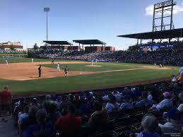 Sloan Park Arizona Seating Chart Sloan Park Section 106 Rateyourseats Com