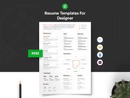 Free Resume Designer Free Resume Template For Designer With Portfolio Get Psd Sketch