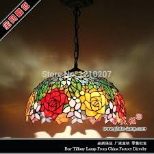 tiffany hanging lamp shades stained glass lighting